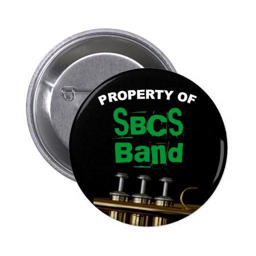 Botón de la trompeta para la banda pin redondo de 2 pulgadas