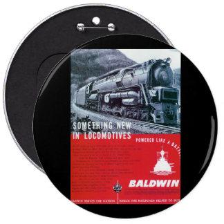 Botón de la turbina de vapor de Baldwin-PRR S-2 Pin Redondo De 6 Pulgadas