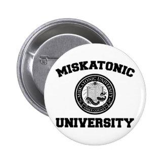 Botón de la universidad de Miskatonic Pin Redondo De 2 Pulgadas