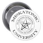 Botón de la universidad de Miskatonic Pin Redondo De 3 Pulgadas