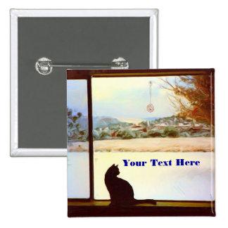 Botón de la ventana del invierno de Tosca Pins