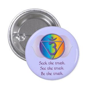 Botón de la verdad del tercer ojo pin redondo de 1 pulgada
