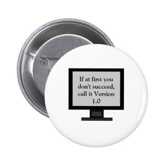 Botón de la versión 1,0 pin redondo de 2 pulgadas