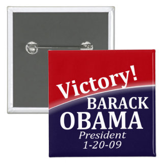 Botón de la victoria de Barack Obama Pin