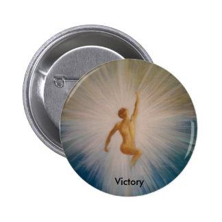Botón de la victoria pin redondo de 2 pulgadas
