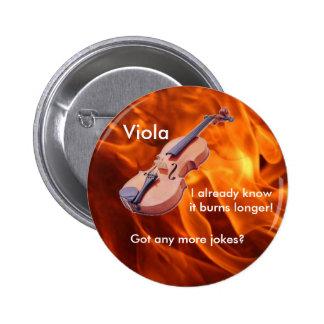"""Botón de la """"viola ardiendo"""" pin redondo de 2 pulgadas"""
