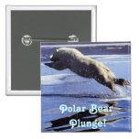 Botón de la zambullida del oso polar pins