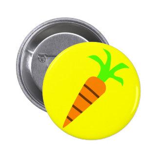Botón de la zanahoria pin redondo de 2 pulgadas