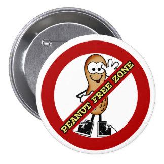 Botón de la zona franca del cacahuete pin redondo de 3 pulgadas