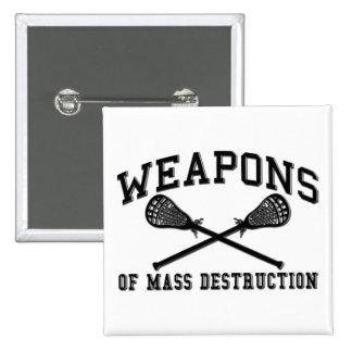 Botón de LaCrosse de las armas de destrucción Pin Cuadrado