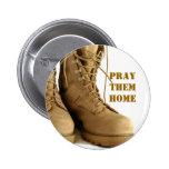 botón de las botas de combate pins