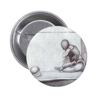 Botón de las caras pin redondo de 2 pulgadas