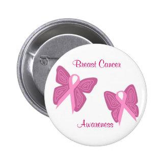 Botón de las cintas de la mariposa del cáncer de p pins