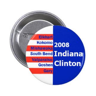 Botón de las ciudades de Hillary INDIANA