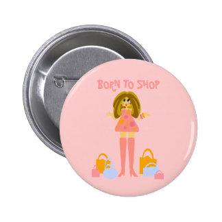 Botón de las compras pin redondo de 2 pulgadas