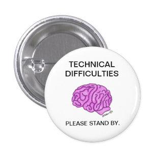 Botón de las dificultades técnicas pins