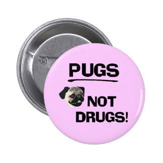 Botón de las drogas de los barros amasados no pin