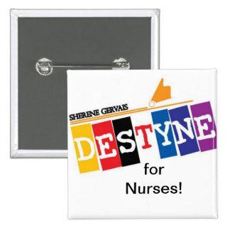 Botón de las enfermeras pin cuadrado
