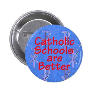 Botón de las escuelas católicas pin redondo de 2 pulgadas
