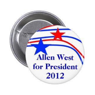 Botón de las estrellas, Allen del oeste para el pr Pin Redondo De 2 Pulgadas