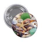 Botón de las estrellas de mar de los Seashells y d Pin