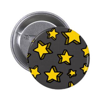 Botón de las estrellas pin