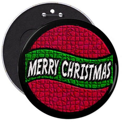 Botón de las Felices Navidad 2 Pins