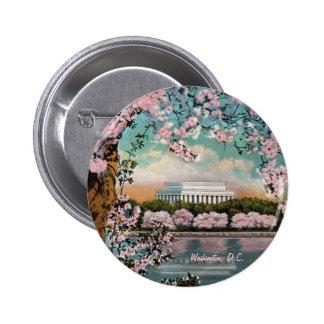Botón de las flores de cerezo pin redondo de 2 pulgadas