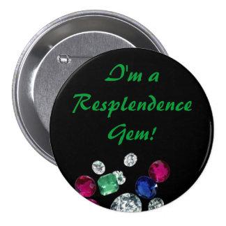 Botón de las gemas pin redondo de 3 pulgadas