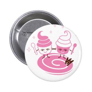 Botón de las hermanas del yogurt congelado pins
