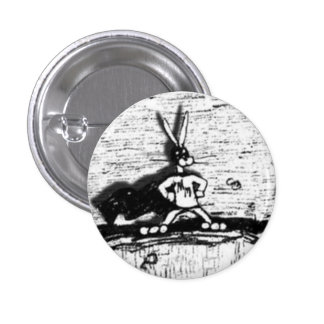 Botón de las liebres de la Héroe-Adoración Pin Redondo De 1 Pulgada