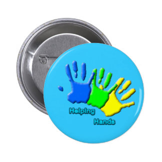 botón de las manos amigas pin redondo de 2 pulgadas