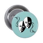 Botón de las máscaras de la comedia y de la traged pin