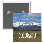 Botón de las montañas de Colorado Pin