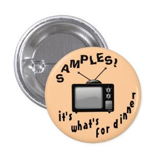 ¡Botón de las muestras! Pin Redondo De 1 Pulgada