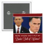 """Botón de las mujeres de Mitt Romney """"carpeta por c Pins"""