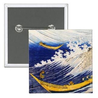 Botón de las olas oceánicas de Hokusai Pins