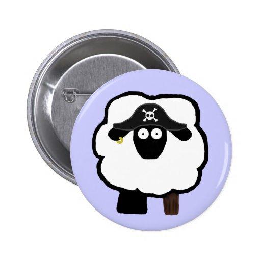Botón de las ovejas del pirata pins