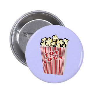 ¡Botón de las palomitas! Pin Redondo De 2 Pulgadas