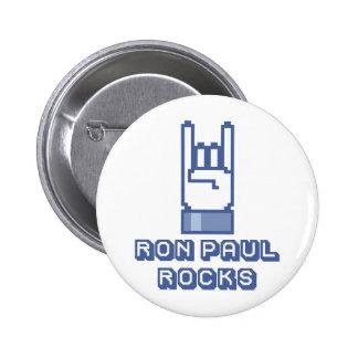 Botón de las rocas de Ron Paul Pin