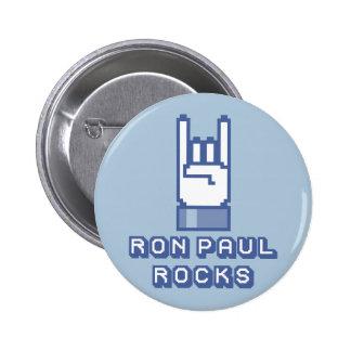 Botón de las rocas de Ron Paul Pins