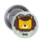 Botón de Leo Pin Redondo De 2 Pulgadas