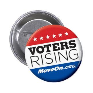 Botón de levantamiento de los votantes pin