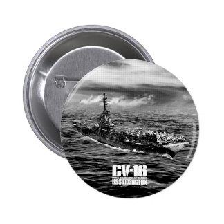Botón de Lexington de portaaviones Pin Redondo De 2 Pulgadas