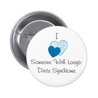 Botón de Loeys-Dietz Pin Redondo De 2 Pulgadas