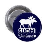 Botón de los alces de Finlandia Pin