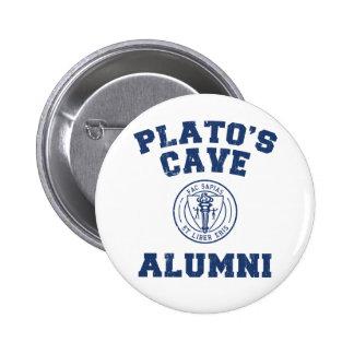 Botón de los alumnos de la cueva de Platón Pin Redondo De 2 Pulgadas