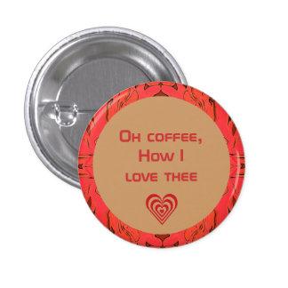 botón de los amantes del café pins