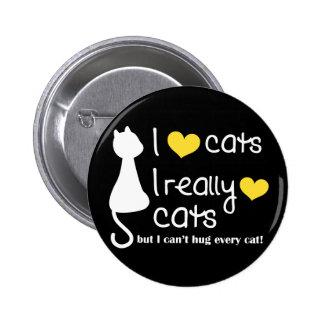 Botón de los amantes del gato de Debbie Pin Redondo De 2 Pulgadas