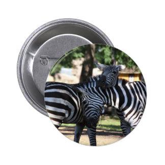 Botón de los amigos de la cebra pins